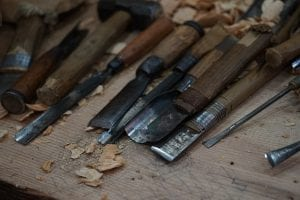 woodworking tools for winter camping