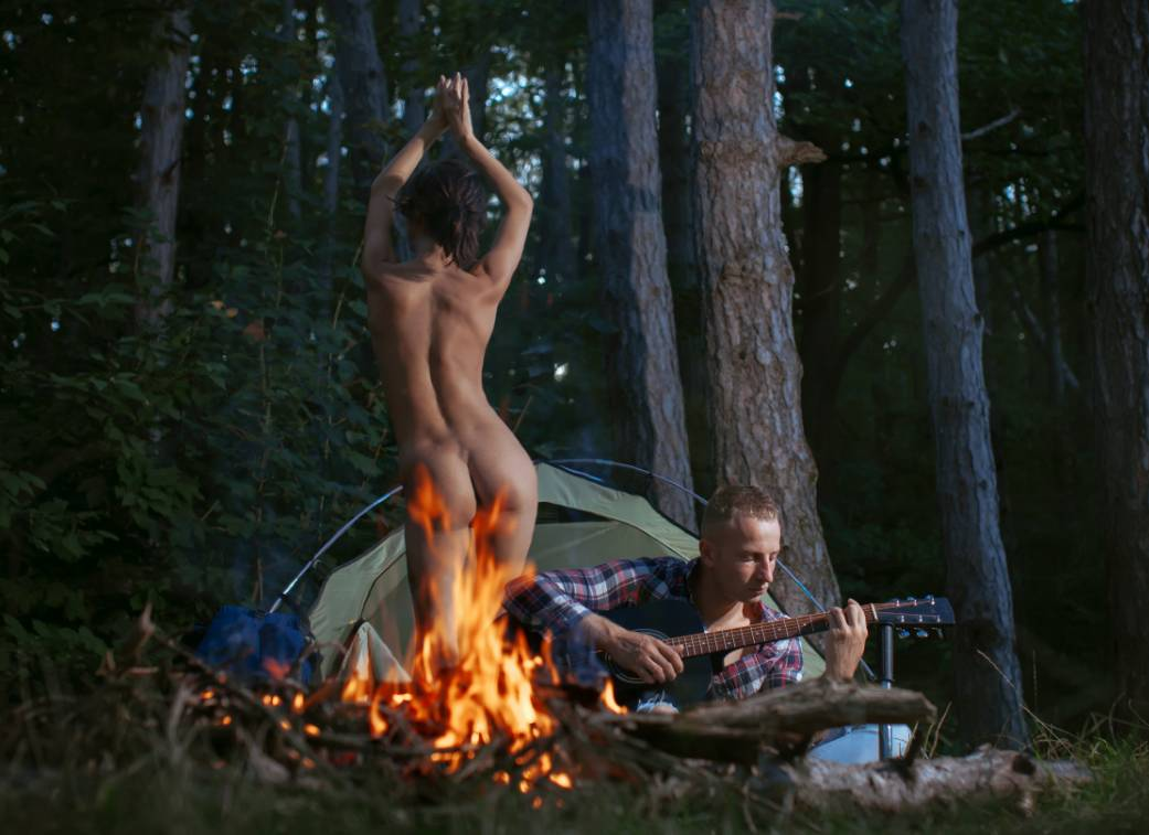 campground sex, having sex in the woods