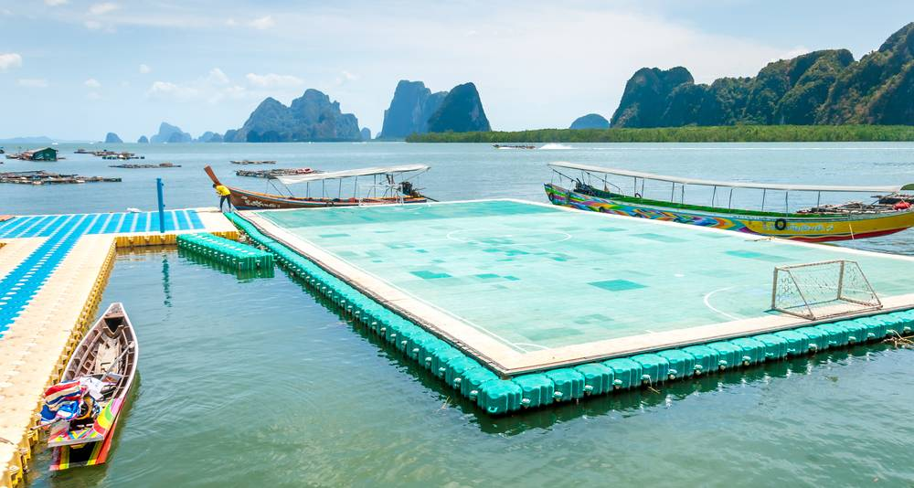 Koh Panyee, coolest soccer pitches
