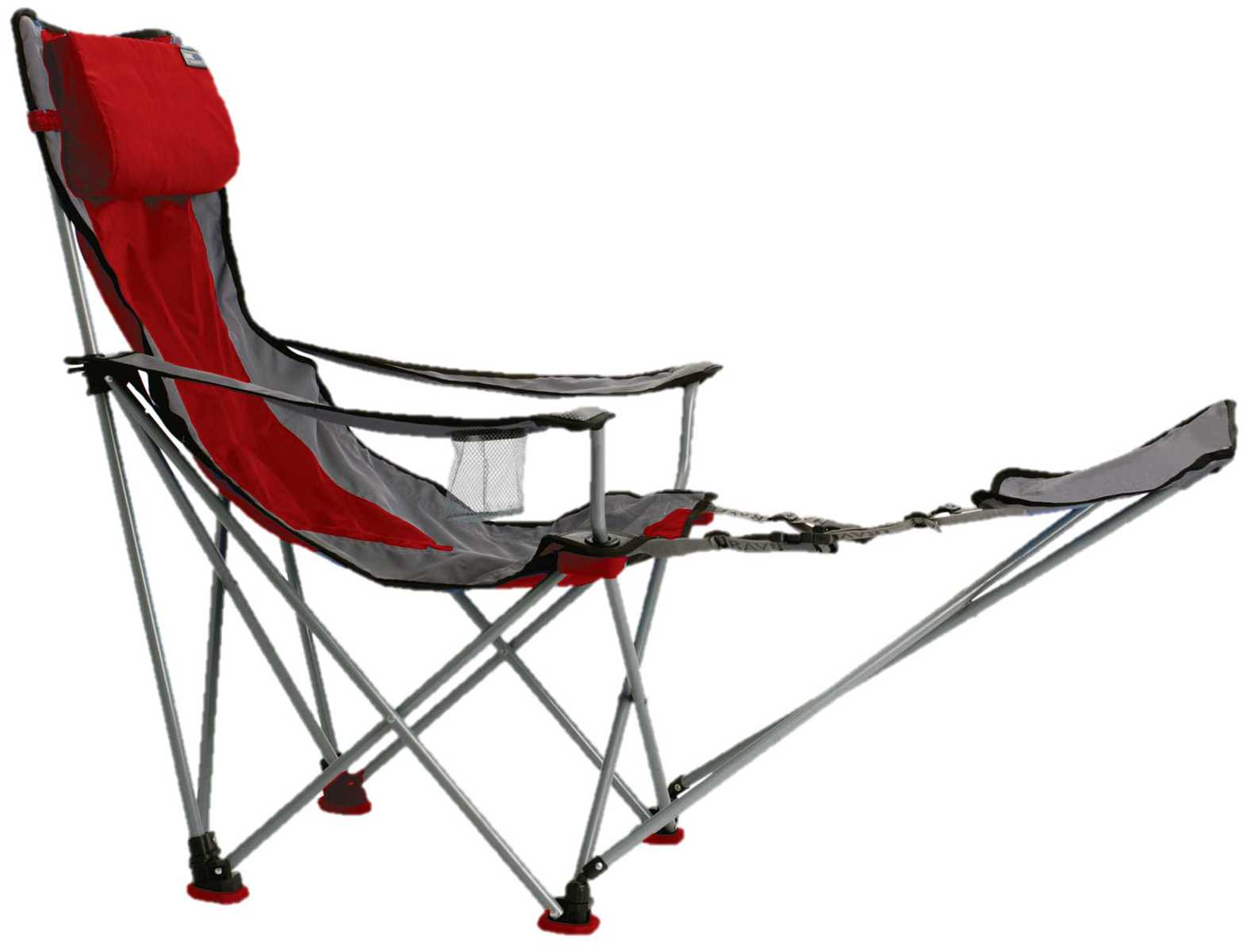 comfortable camping chair with footrest