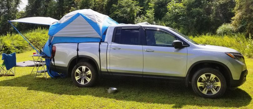 Truck bed tent.