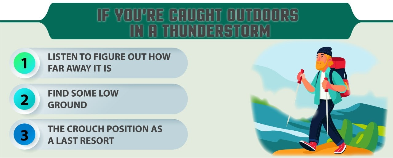 What to do in a thunderstorm when hiking